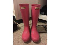 Women's/Child's Size 3 Pink hunter wellies