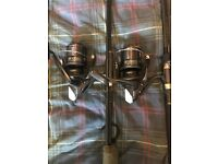 2 x Shimano arelex 8000 big pits swap for smaller reels