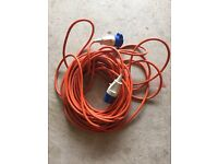 Hook up cable, 25 metres, for caravan / motor home electricity supply