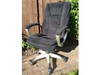 Kashmir Microfibre Office/Manager's Chair - Black