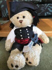 Pirate bear cuddly toy
