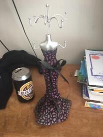 Jewellery stand purple