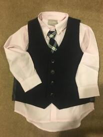 Next waistcoat set Worn Once! Age 1 1/2 To 2