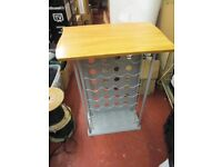USED WINE BOTTLE DRINKS RACK 59X40X88CM