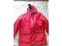 Ladies red waterproof regatta jacket size 16