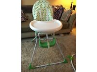 Baby High Chair - Green