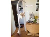Baby cot bumper and musical mobile