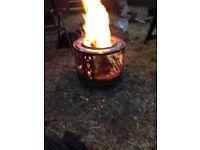 Retro fire drum