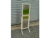 Small cheval free standing bedroom mirror