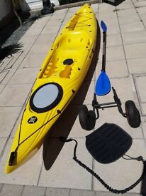 Perception sit on kayak (triumph 13) with extras
