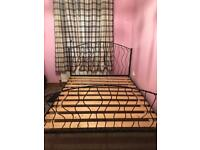 Cast iron king size bed!!