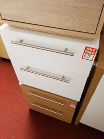 Hygena Atlas 2 Drawer Bedside Chest - White second