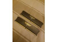 16GB DDR4 CORSAIR VENGEANCE 3000 MHZ (8X2 GB)