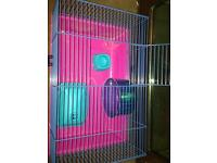 Dwarf Hamster Cage & Ball