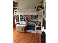 Awesome kids loft bed with pull out sofa bed and desk