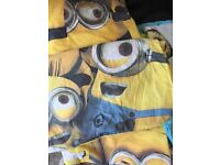 Two sets of minions single bedding set with pillow cases