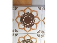 1960d kitchen/bathroom tiles 15cmx15cm - 25 tiles