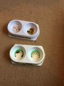 2 x twin cat bowls