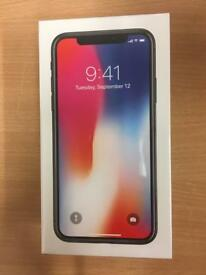 Brand new iPhone X 64gb unlocked to all networks
