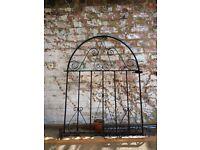 Garden gate, black iron/metal
