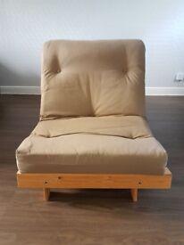 Argos HOME Single Futon Sofa Bed with Mattress - Light Brown