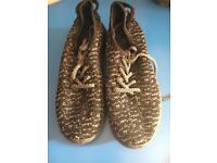 New yeezy boys soft trainers pumps shoes sz 36 grey black