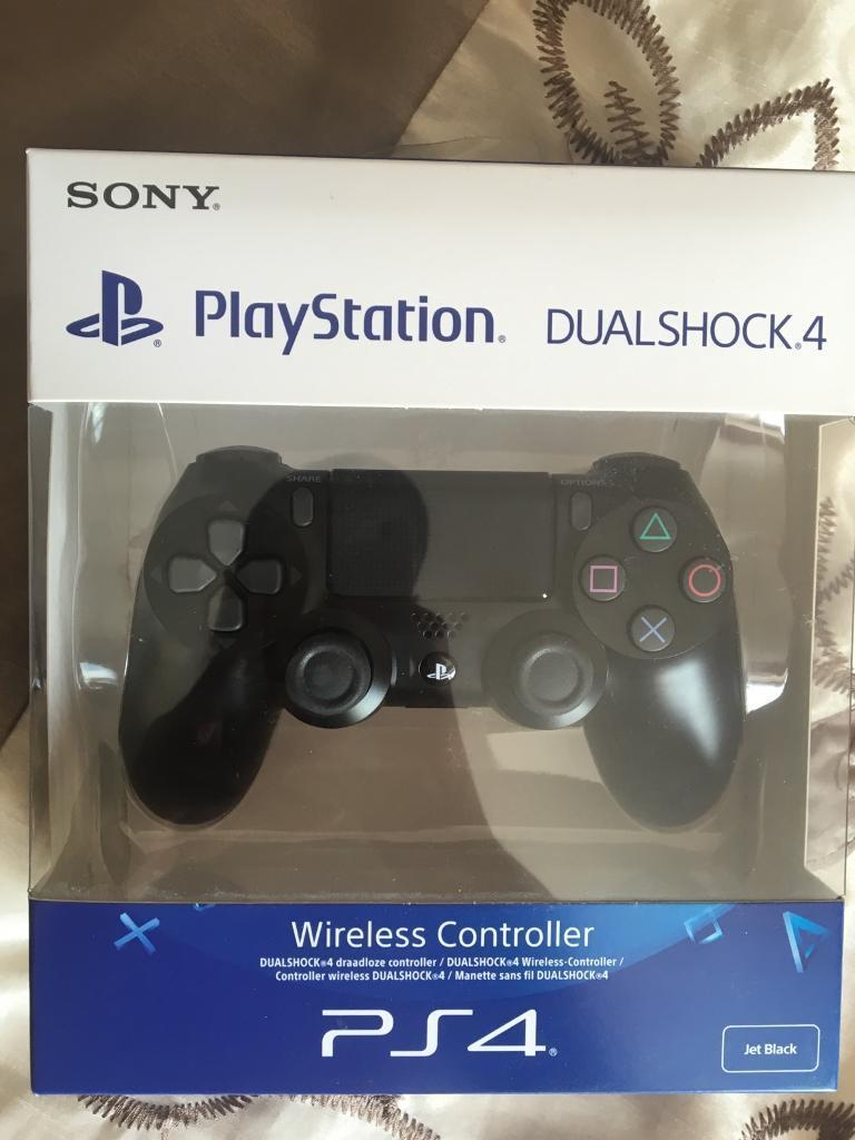 Sony Ps4 Controller Wireless Jet Black Dual Shock 4 Brand New