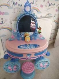 Disney Cinderella vanity/ make up table