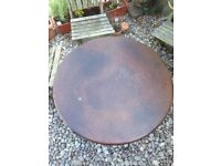 Beautiful vintage copper topped coffee table