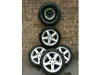 4 alloy rims and tyres for mercedess cls350 and spare wheel all n w