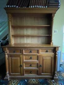 Welsh Dresser Shelves Draws Cupboard Doors Wood