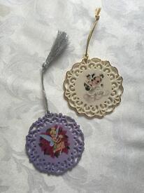 2 DISNEY China Hanging Ornaments