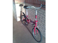 Unique Red Foldable bike