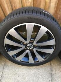 x5 Genuine VW GOLF GTD, 17inch, Mark 6, Seattle Alloys inc x4 BRAND NEW tyres (5x112)