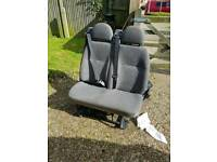 Vauxhall vivaro rear twin seats