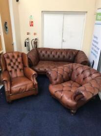 Tetrad chesterfield 3 piece suite sofa & Armchairs