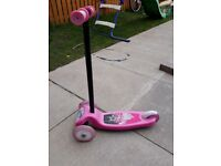 Pink 3-wheel scooter