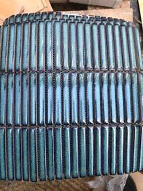 Ca Pierre Bamboo porcelain verdigris tiles - blue