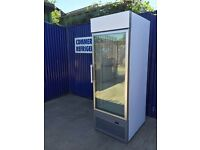 ISA Single Door Glass Fronted Freezer Display Frozen Meat Dairy Fish Fridge Shop