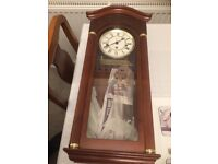 Wall Clock Hermle 8 Day Westminster Chime.