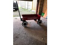 Pull along metal cart/ classic Wagon Kinds toy or carrying