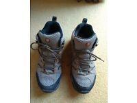 Merrell Mens Moab Mid Goretex Walnut Boots size 7