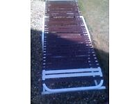 Lightweight non rust garden lounger with several positions
