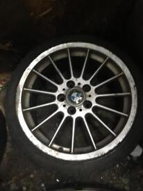 BMW set of 4 ally wheels with good tiers 215-40R18