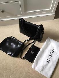 Gucci bags (2) and Gucci purse
