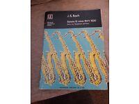 Bach G minor Sonata BWV 1020 Alto Saxophone and piano sheet music