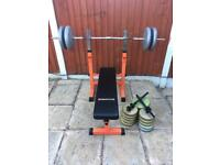 Olympro Bench With 90kg Weights Set. Can Deliver