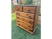Solid pine chest of drawers. Dovetail Joints. Possible delivery
