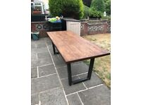 Beautiful hand made solid wood dinning table