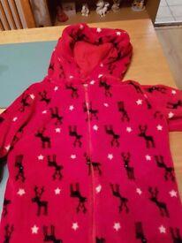 Childs fleece reindeer onesie